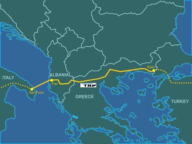 Европа, газ, трансадриатический газопровод, президент швейцарского концерна Axpo Хайнц Каррер, 2019, Trans Adriatic Pipeline, 2014, тар, трансадриатический газопровод карта, маршрут, 2015