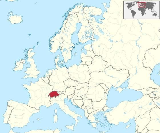 Страна Швейцария на карте мира Швейцария на карте Страна Швейцария на карте мира switzerland map1
