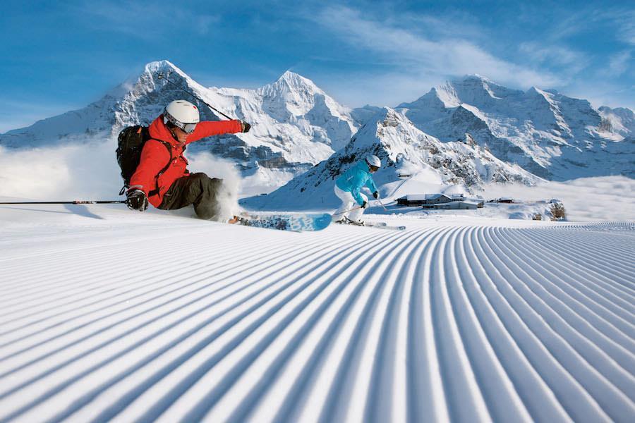 лыжи швейцарские Альпы