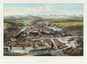 Берн в 1858 столица Швейцарии Столица Швейцарии: Берн? Цюрих? Женева? CH Bern