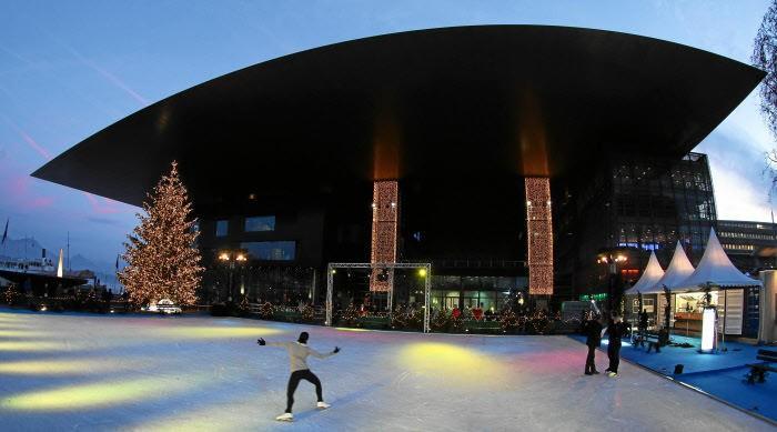 катание на коньках в Люцерне Люцерн Люцерн (город) novy j god luzern