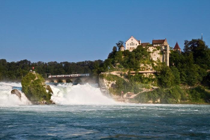 водопад на Рейне Шаффхаузен Шаффхаузен wodopad shaffhauzen
