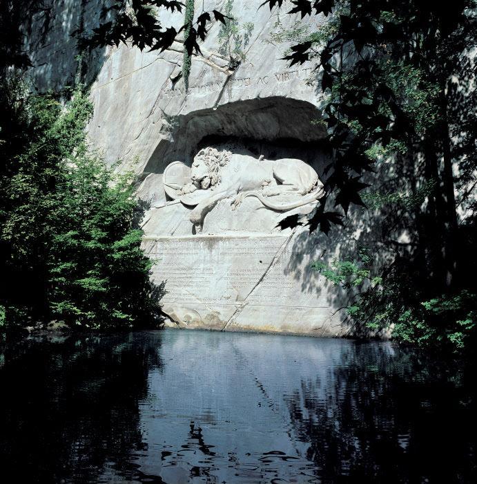 Умирающий лев (скульптура)