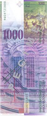 1000 швейцарских франков