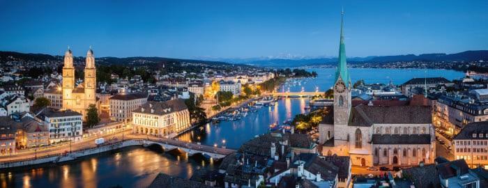 столица Швейцарии Цюрих