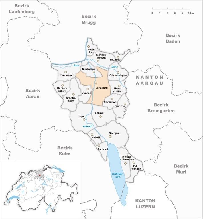Ленцбург на карте