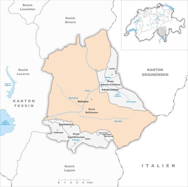 Беллинцона карта